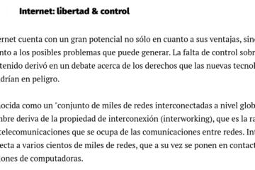 internet: libertad y control