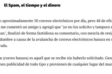 Spam el tiempo y el dinero - Nota Juan Jose Larrea